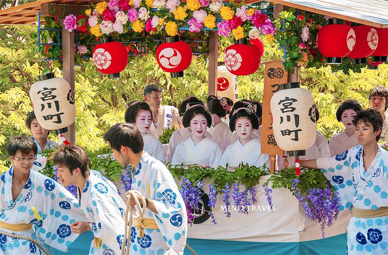 祇園祭 花笠巡行 宮川町