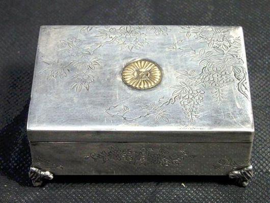 宮本商行製 銀製 小物入れ アンティーク