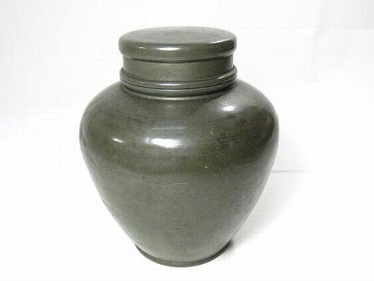 古錫 點銅 茶壺 茶入 煎茶道具