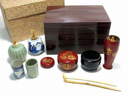茶道具 茶箱セット 本象牙茶杓
