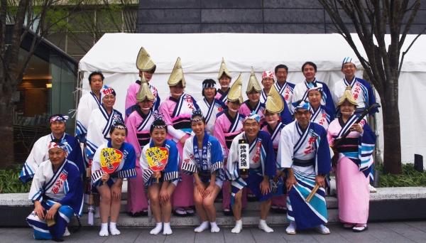 神戸楠公連 うめきたフェスティバル2016 集合写真