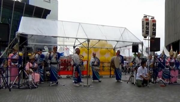 神戸楠公連 うめきたフェスティバル2016 阿波踊り 鳴り物