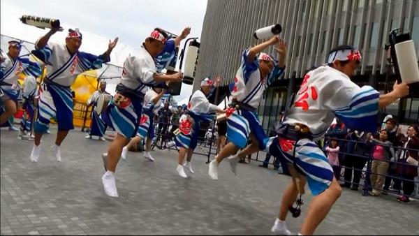 神戸楠公連 うめきたフェスティバル2016 阿波踊り 男踊り