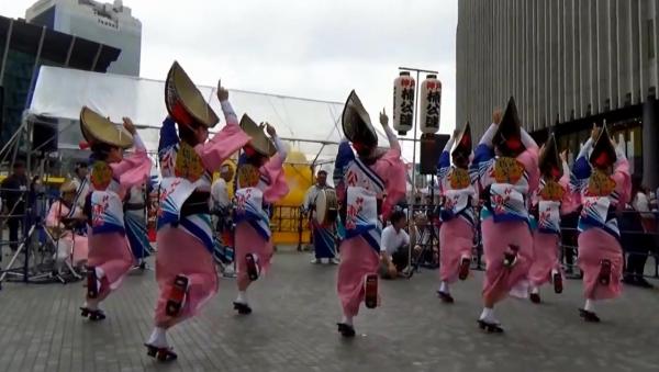 神戸楠公連 うめきたフェスティバル2016 阿波踊り 女踊り