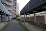 神戸市営名谷駅東住宅 封鎖された駐輪場