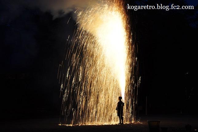お雀神社で手筒花火4