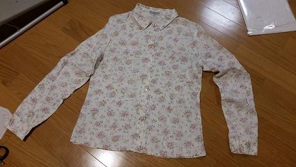 リネン花柄シャツ