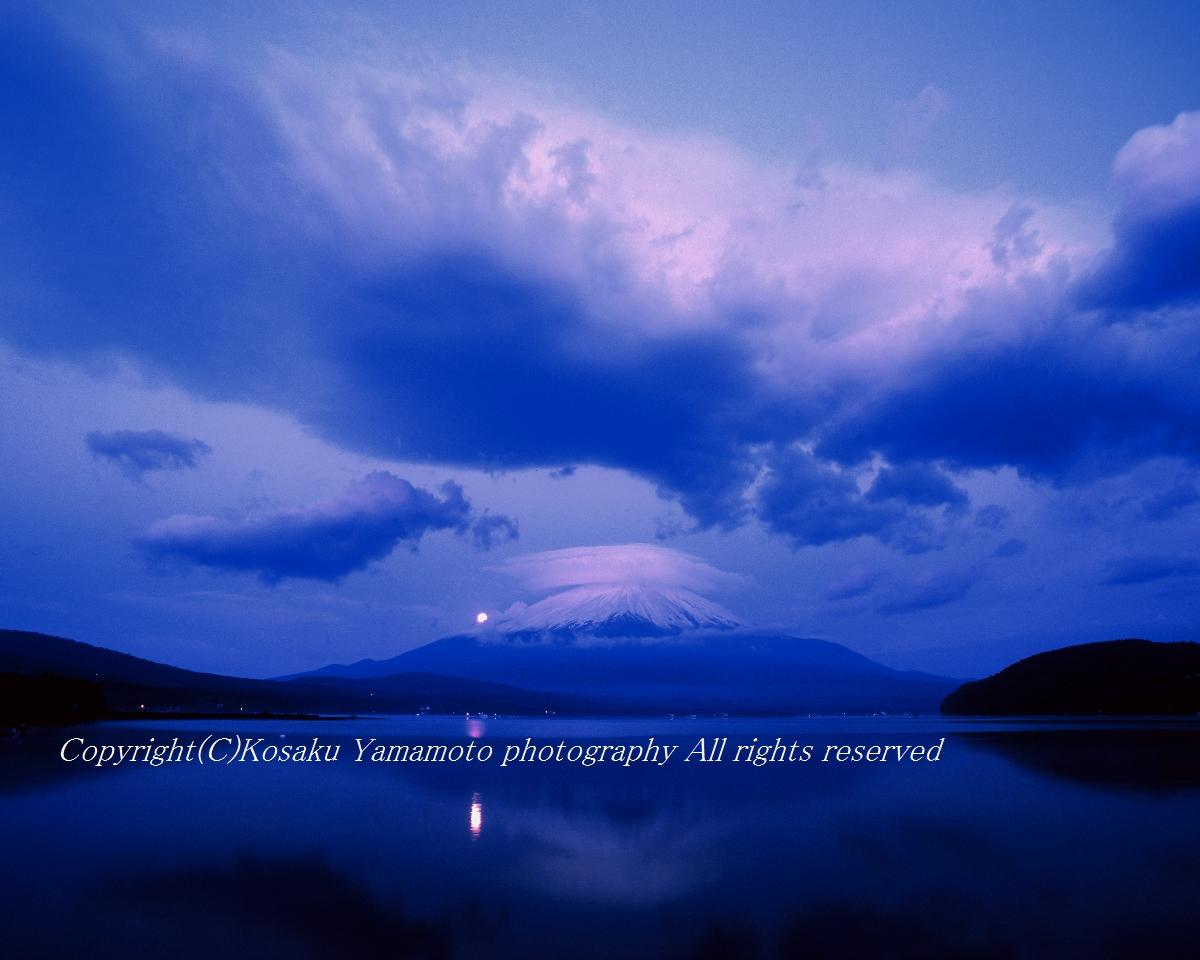 「荒天の予兆」 山中湖