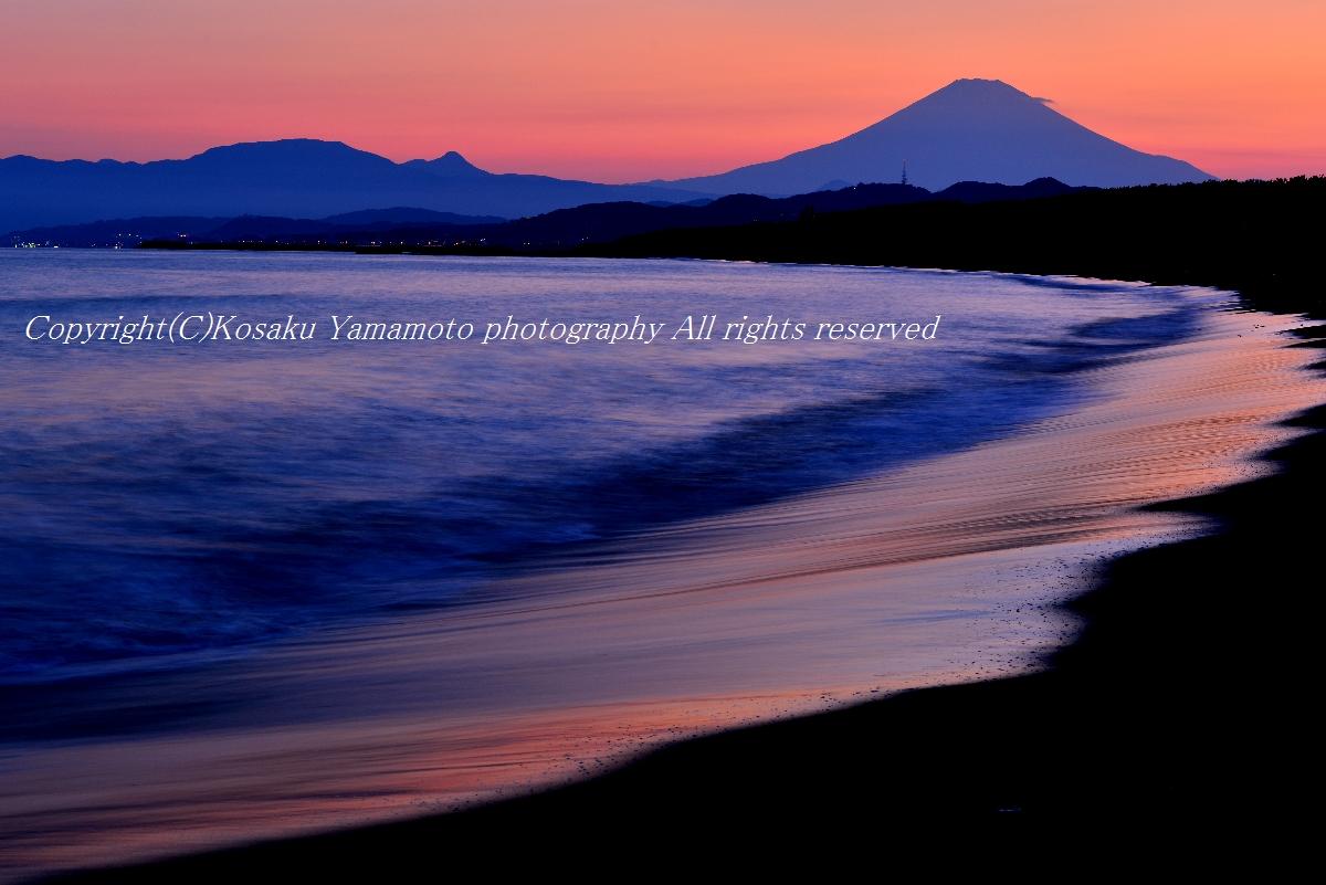 「湘南富士夕景」 茅ヶ崎海岸