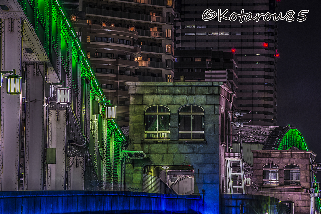 深夜の勝鬨橋 20160619