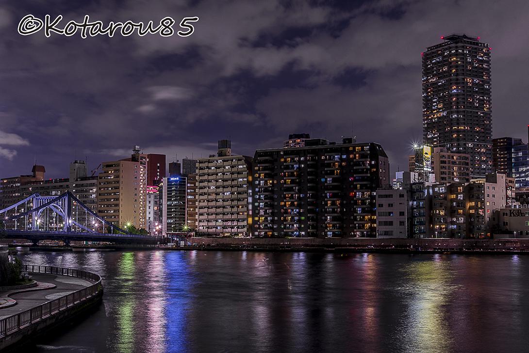 清洲橋水景1 20160624