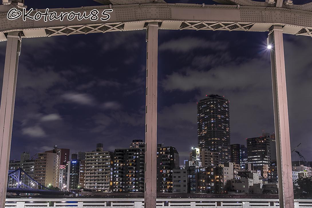 萬年橋のアーチから 20160624