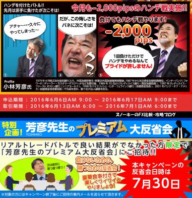 ヒロセ通商リアルトレードバトルキャンペーン2016年6月2