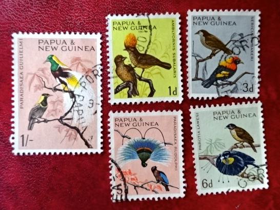 パプアニューギニア鳥切手