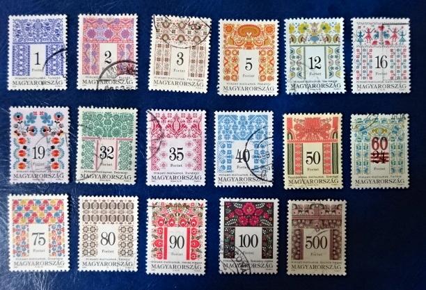 ハンガリー刺繍切手