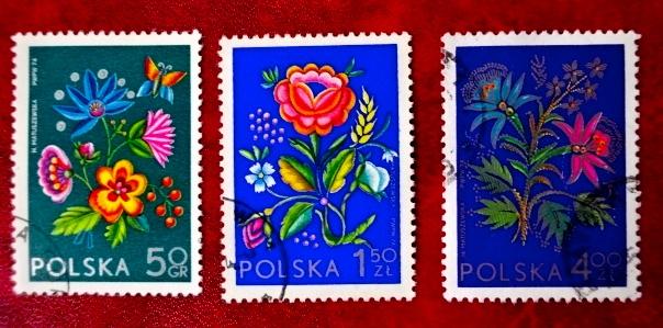 ポーランド花切手