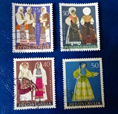 ユーゴ民族衣装切手