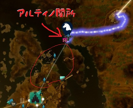 アルティノ関所MAP