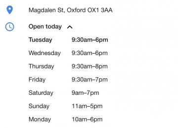 Debenhams Opening Hours