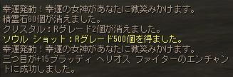 幸運発動で+15ブラ拳成功!