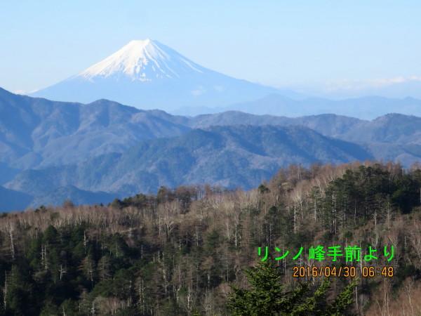 6.リンノ峰手前の鞍部より富士山_2