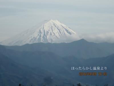 ほったらかし温泉から富士山