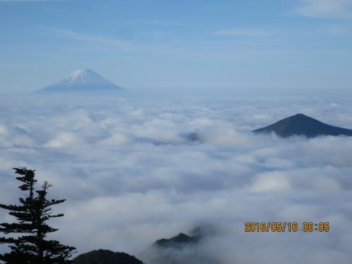 富士山と黒金山