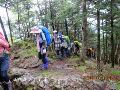 唐松尾山に到着