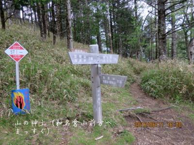 山の神土(和名倉山分岐)