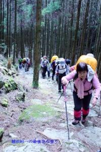 越前峠への最後の登り