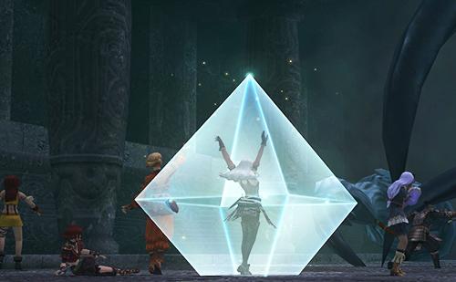 魔法を展開するアシェラ