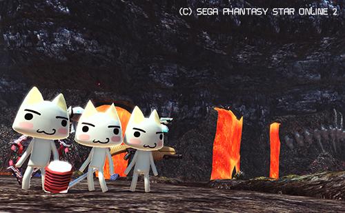 火山でサポートのトロとごいっしょ