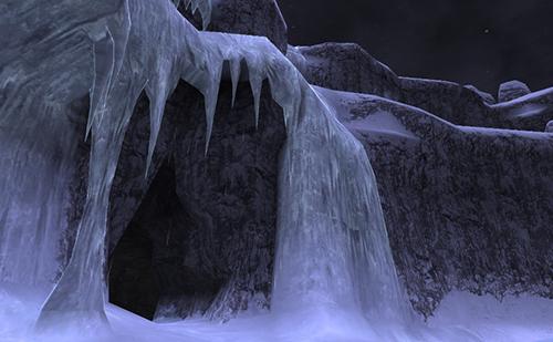 熊爪嶽へ向かうための氷壁 晴れた時にしか開かない