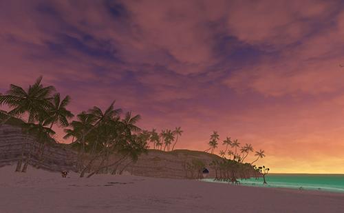 隠し海岸の夕景も美しいです