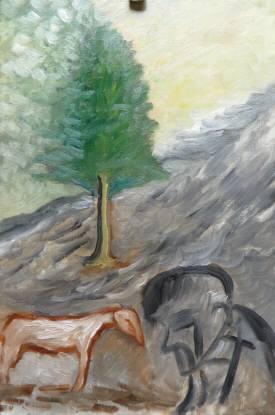 2016_04 28_庭の木と絵・2