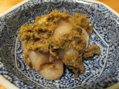 イシガレイの蕗味噌和え1