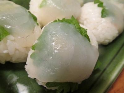 フグのてまり寿司アップ1