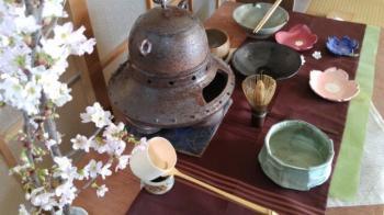 茶のテーブル