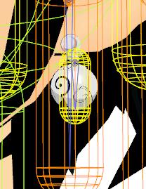 2016/04/09 MMDかずみモデル ピアス作成過程 剛体設定