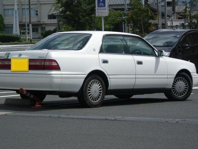 豪快な駐車