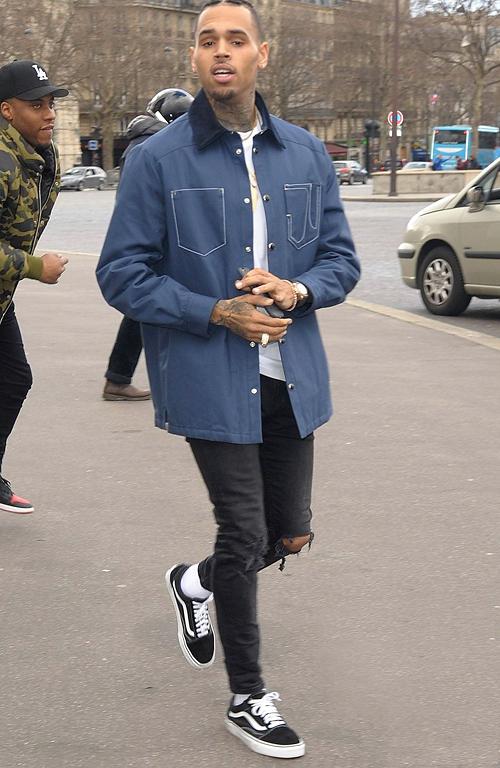 クリス・ブラウン(Chris Brown):ジバンシィ(GIVENCHY)/バンズ(Vans)