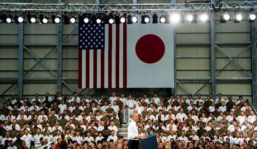 5月27日 AFP オバマ大統領in岩国