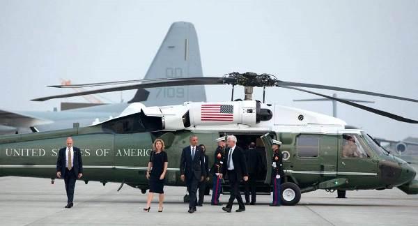 5月28日 米国大使館 米海兵隊岩国基地で(マリーンワン)