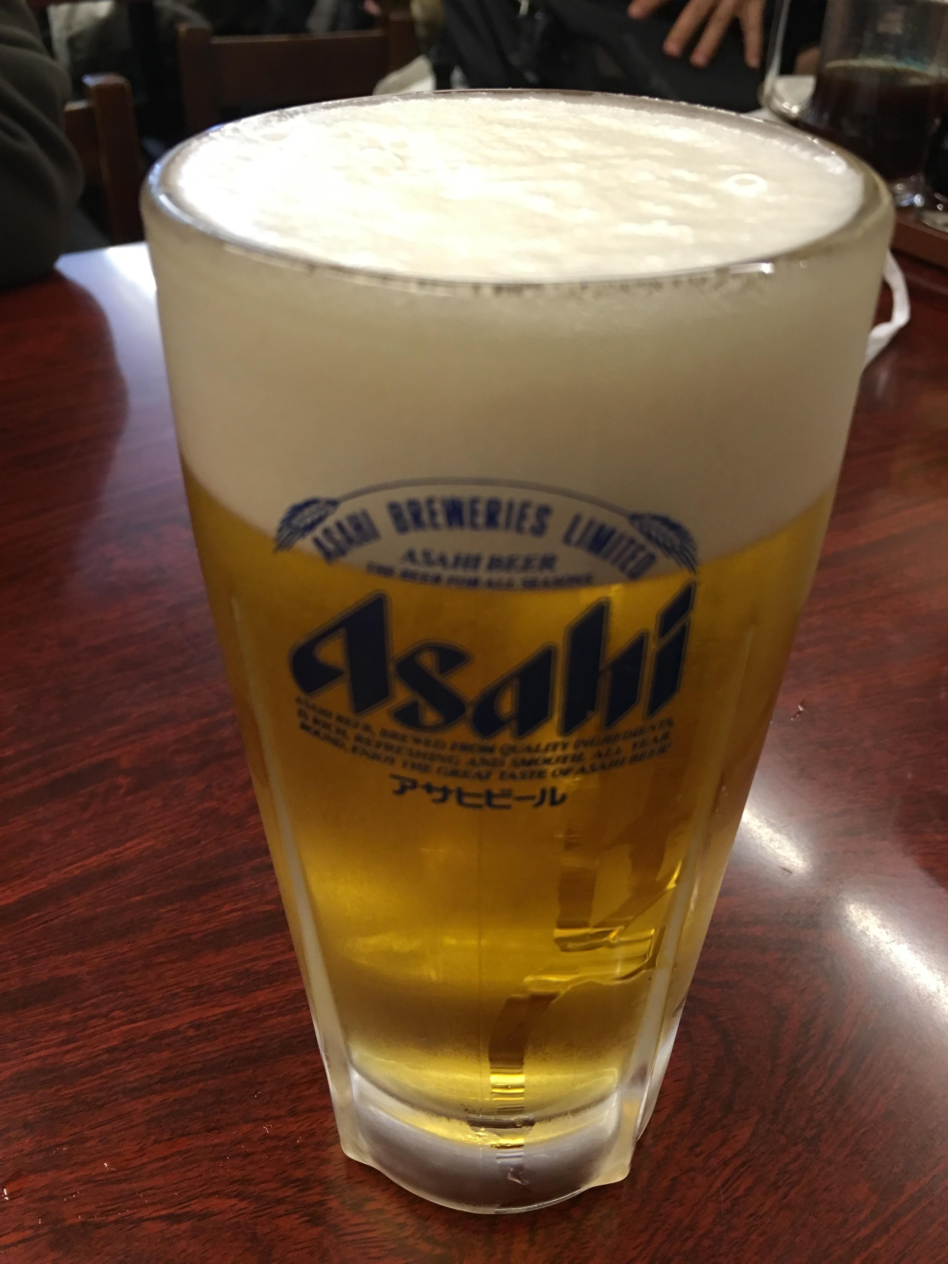 ときわ食堂でビール