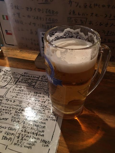 ひなたでビール