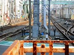 メトロ検車区への渡り線(準備中)