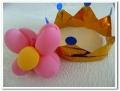 王冠とバルーンアート