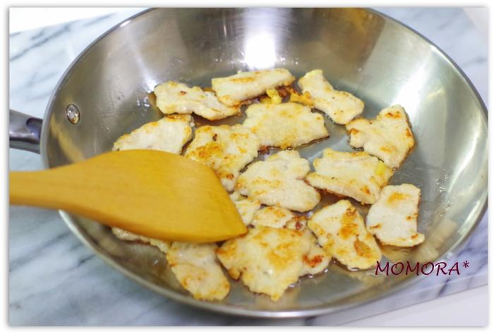 鶏胸肉の回鍋肉手順 (3)