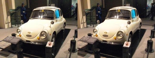 江戸東京博物館 富士重工業 軽自動車 スバル 360型(交差法)