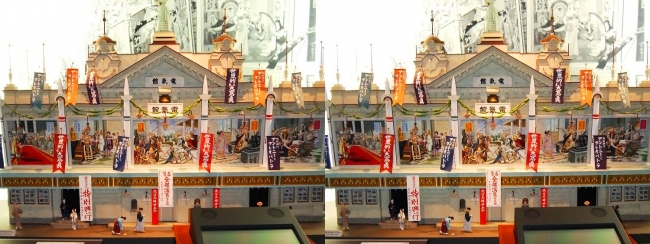 江戸東京博物館 電氣館模型①(平行法)
